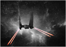 Star Wars Space Shuttle X Wing Poster Art Print Black & White Card or Canvas