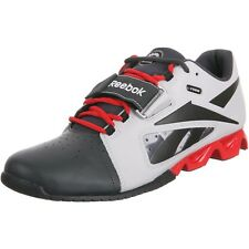 Mens Reebok Crossfit Lifter OLY U-Form Weight Lifting Shoes Steel Gravel Red NEW