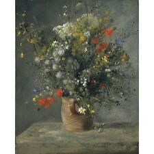 1866 Pierre-Auguste Renoir Flowers In A Vase French Still Life Painting Poster
