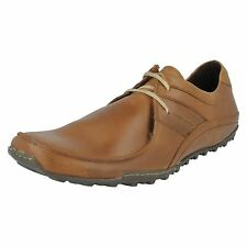 Base London Spring Excel Men's Tan Leather Textile Lace Up Casual Shoes UK 16