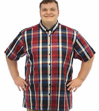 Louie James Red Block Check Shirt 2XL,3XL,4XL,5XL,6XL,7XL,8XL