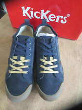 kickers sneaker leather+canvas navy NEW Val E Size 6,41,42