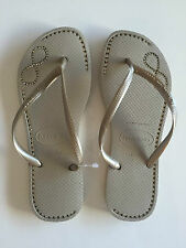ORIGINAL HAVAIANAS SLIM INFINITY CRYSTAL SANDAL LADIES WOMEN FLIP FLOP SAND GOLD