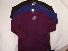 NWT LORD & TAYLOR  V-NECK LONG SLEEVE CASHMERE SWEATER SZ XL, BROWN OR BLUE