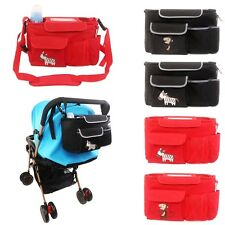 Stroller Organizer Diaper Bag Nappy Changing Storage Bag Shoulder Bag Messenger