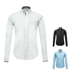 Classic Mens Long Sleeve Button Down Formal Shirts Business Work Dress Shirts