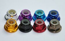 M2 M3 M4 M5 Aluminum Flanged Nylon Lock Nut X 10 Purple Blue Red Gold Pink Green
