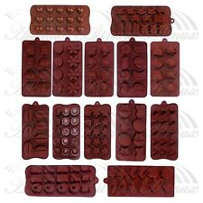 Heart Bion Plane Star Chocolate Cake Ice Soap Cube Tray Candy Silicone Mold Set