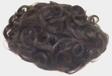 "MENS MONOFILAMENT HAND TIED MALE WAVY CURLY WIG TOUPEE 6"" X 9"" BASE HAIRPIECE"