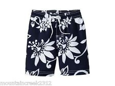 OLD NAVY Boys Swim Trunks Size 12 18 months Hibiscus Print Blue Baby NEW