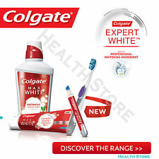 Colgate MAX WHITE EXPERT Ultimate WHITENING Toothpaste Mouthwash Toothbrush