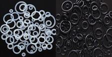 """10pcs Black/Clear Ear Plug, Tunnel, Taper Replacement """"O"""" Rings In 14g-5/8"""" 13sz"""