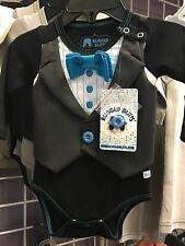 Rugged Butts Blue Tie Tuxedo Bodysuit