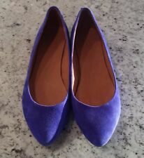 MADEWELL JCrew shoes purple suede leather 1937 Sidewalk Skimmer ballet flats 9.5