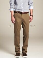 NWT Banana Republic Dark Acorn Brown Emerson Vintage Straight Cotton Chino Pants