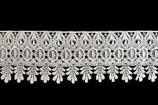 """Lily 4"""" Ivory and White Pick Venise Vintage Victorian Floral Lace Trim By Yard"""