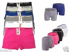 6 Boyshorts Sports SEXY boxer Yoga Panties Undies Multi-Colors Jennifer6104 S-2X