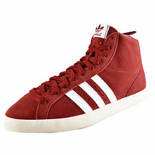 Adidas Originals Womens Girls Basket Profi Hi Top Trainers Mars Red *AUTHENTIC*