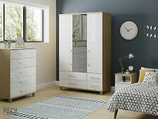 FULLY ASSEMBLED New Roma High Gloss 5 Drawer Tall Large Chest of Drawers