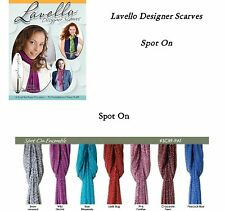 Lavello Designer Scarves -Spot On Colors w/Fringe - Scarf Wrap Fashion Gifts NEW