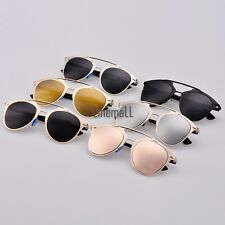 Sunglasses Dual Horizontal Beam Eyewear Retro Women Full Frame Vintage LM