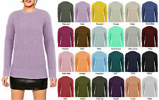 Women Ladies Long Sleeve Knitted Pullover Chunky Jumper Sweater Baggy Top
