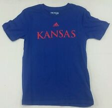Kansas Jayhawks Adidas NCAA Licensed T-Shirt - Boy's Multiple Sizes - Blue
