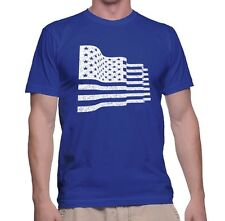 Men's T Shirt American Flag S Independence 4th of July Adult Tee Sleeve Dad Gift