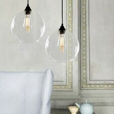Retro Industrial Globe Loft Cafe Glass Ceiling Pendant Hanging Light Lamp Shade