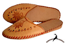Ladies Womens Real Leather Bohemian Traditional Slippers Shoes Sandal Handmade
