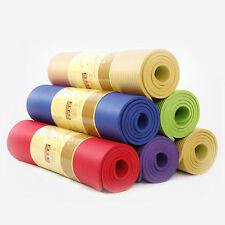 10mm Thick Yoga Mat Non-slip Exercise Fitness Pad Mat Lose Weight Gym Durable