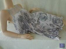 NWT $298 BCBG MAXAZRIA Sz 4 6 Fancy Slvless Muave Gray Tiered Floral Party Dress