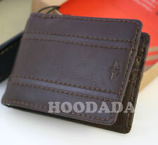 New in a Box DOCKERS Men's Leather  Slim Wallet with Bill Clip, Brown