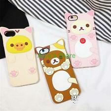 Cartoon Cute Bear Rilakkuma Chick Rubber soft Case cover for iphone 6 6S plus 5S