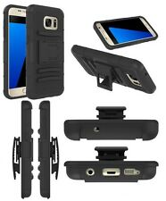 DEFENDER HARD HOLSTER KICKSTAND COMBO ARMOR BOX CASE COVER WITH BELT CLIP BLACK
