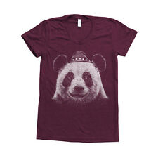 Panda Bear Screenprint Women Triblend Track Shirt American Apparel Animal Print