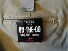 Brand new with tags! Mens BIG & TALL DOCKERS ON-THE-GO Flat Front Khaki Pants