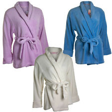 Ladies Cameo Well Soft Shawl Collar Cardi Gown Cream Pink Blue Sizes 10-20