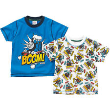 Boys Thomas & Friends Two Pack Short Sleeved Character Printed T-shirts 1-6yrs