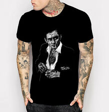 Johnny Cash T-shirt Men's Black Fashion Rock And Roll Tee Shirt M L XL 2XL 3XL