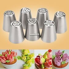Metal Russian Icing Piping Nozzles Tips Cake Sugarcraft Pastry Decorating Tool S