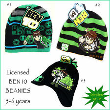 BEN1O Cartoon Network Its Hero Time Embroidered Acrylic Beanie Boys 3-6 years
