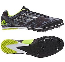 Adidas Mens XCS 4 Cross Country Running Spikes ~ Black Silver Lime Green ~ NWTS