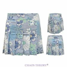 New Womens Daisy Floral Print Cotton Summer Ladies Short Mini Frill Skater Skirt