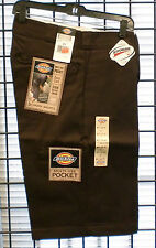 "Dickies 42283 13"" Loose Fit - Multi-Pocket Work Shorts-  DARK BROWN"