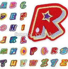 Letter A-Z Number 0-9 Embroidered Applique Iron On Sew Motif Patch DIY Accessory