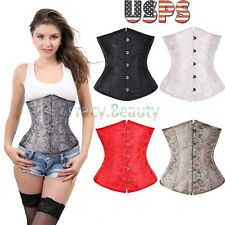 Hot Boned Waist Training Cincher Plus Size Underbust Corset Waspie Lingerie Top