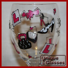 Personalised Hen Party Wine or Shot Glass hand painted by Unique Glasses
