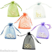 "2 3/x4"" Organza Jewelry Wedding Party Favor Decor Gift Pouch Bags 50~100~200~300"