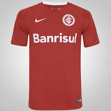 Internacional Home Nike Soccer Football Maglia Jersey Men Brazil 2016 NWT